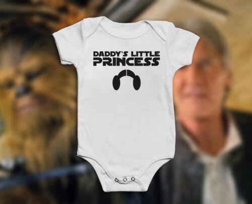 Funny Star Wars Pink Or White Baby Grow Bodysuit VestGirls Princess Leia