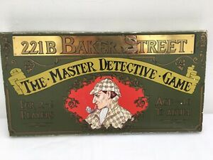 GIBSONS-221B-BAKER-STREET-THE-MASTER-DETECTIVE-GAME-VINTAGE-COMPLETE