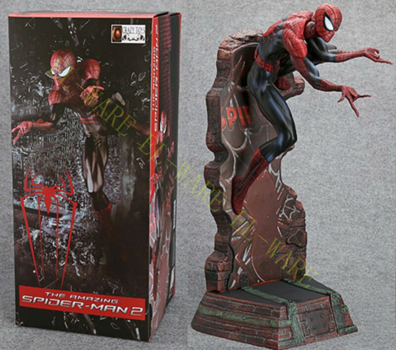 Crazy Toys The Amazing Spiderman 18 Peter Paker Action Figurine Modèle negro