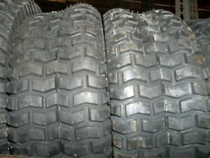 TWO-New-13-5-00-6-Golf-Cart-Lawn-Mower-Tubeless-Turf-Tread-Tires-4-ply