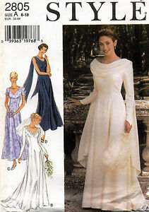 Style Bridal Gown, Dress Pattern 2805 Size 8-18 UNCUT
