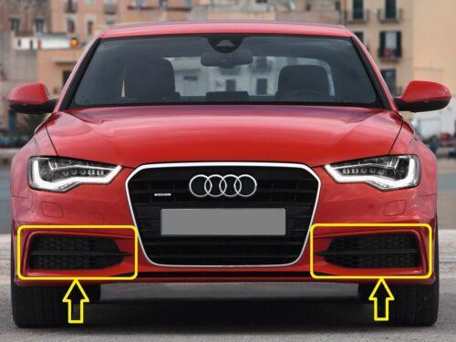 2011-2014 Genuine Audi A6 C7 DESTRA S-LINE PARAURTI FOG LIGHT GRILL COPPIA SINISTRA