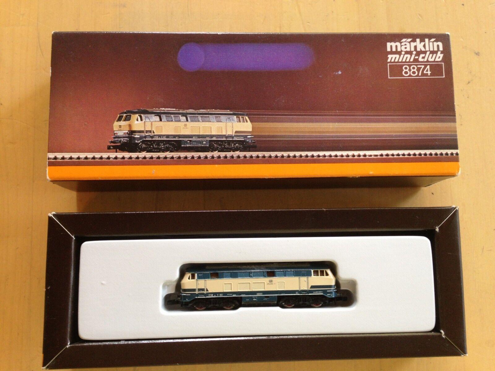 Marklin 8874 Mini-Club DB 216090-1 Z-Scale Locomotive