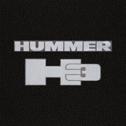 Silver Hummer H3 Logo Black Classic Loop Carpet Front Mats 2006 Hummer H3