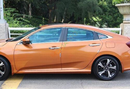 For Honda Civic 10th Gen 4dr Sedan 2016 2017 Bottom Window Sill Frame Trim 8Pcs