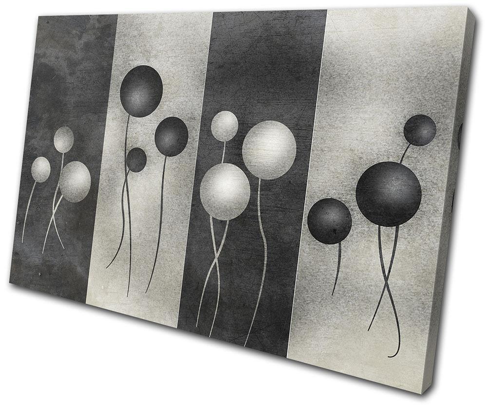 Abstract Grunge Floral Geometric SINGLE Leinwand Wand Kunst Bild drucken