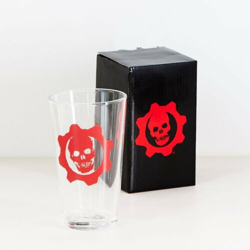 Gears of War Lootcrate Special Edition Collectible Pint Glass in Gift Box