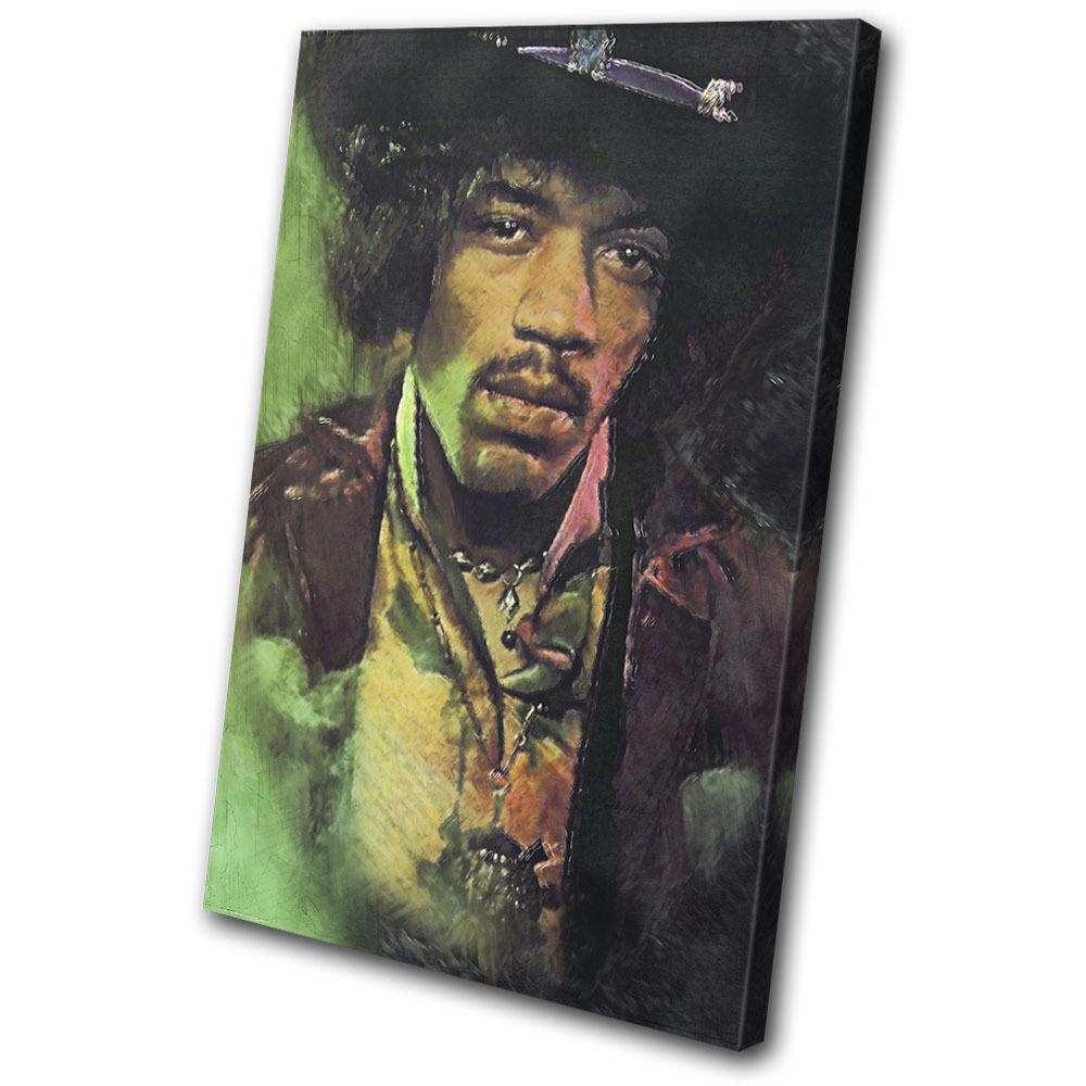Iconic Celebrities Jimi Abstract SINGLE TELA parete arte arte arte foto stampa 4fb008