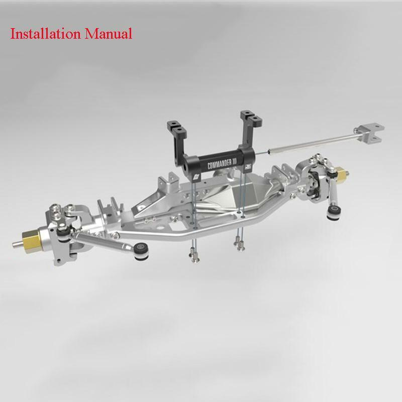 CAPO RC 1 1 1 8 Scale Crawler Car Model JKMAX Front Pull Rod Steering Gear Base 7f01ba