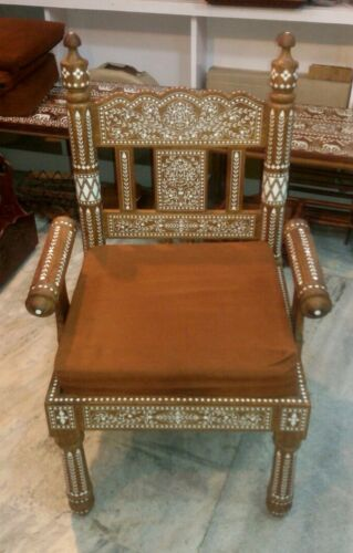 Handmade Indian Inlaid Rosewood Sofa Chair New Design
