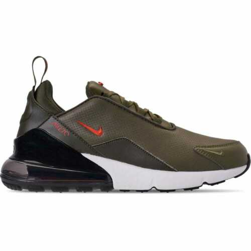 Nike Air Max 270 Premium Leather Medium Olive//Team Orange//Cargo Khaki BQ6171 200