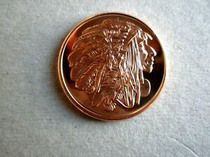 """/""""Chief Red Cloud/"""" American Indian Series Copper 1 oz .999 Copper Round"""