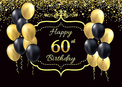 Happy 60th Birthday Photography Backdrop Photo Background