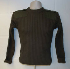 OLIVE GREEN WOOL PULLOVER CREW NECK JUMPER - Size: 74cm British Army  NEW CADETS