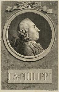 Chodowiecki (1726-1801). ritratti di J. A. Philippi; pressione grafico 1