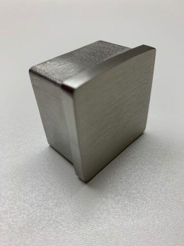 Stopfen Rohrkappe Rohrverschluss Rohrstopfen V2A Endkappe vierkant 40x40x2