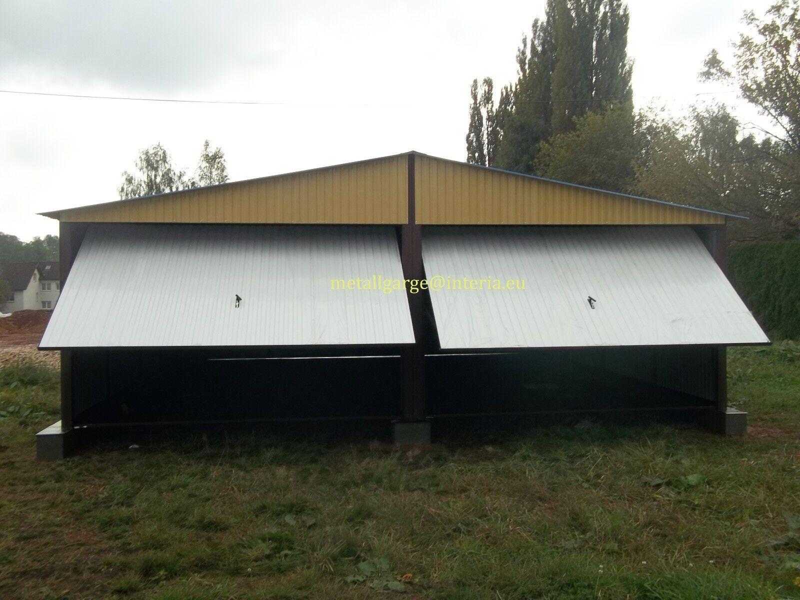 1002&9010 5,0X4,5 Blechgarage Metallgarage LAGERRAUM RAUM KFZ Schuppen Garage