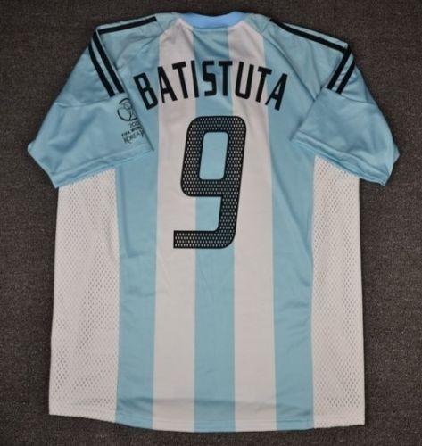 silverINA RETRO SHIRT 2002, BATISTUTA, Size S M L XL