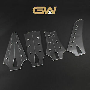 Acrylic guitar headstock templates ebay for Fender bass headstock template