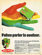 PUBLICITE ADVERTISING 035  1971  FUJI FILM   pellicules FUJI 100 ASA