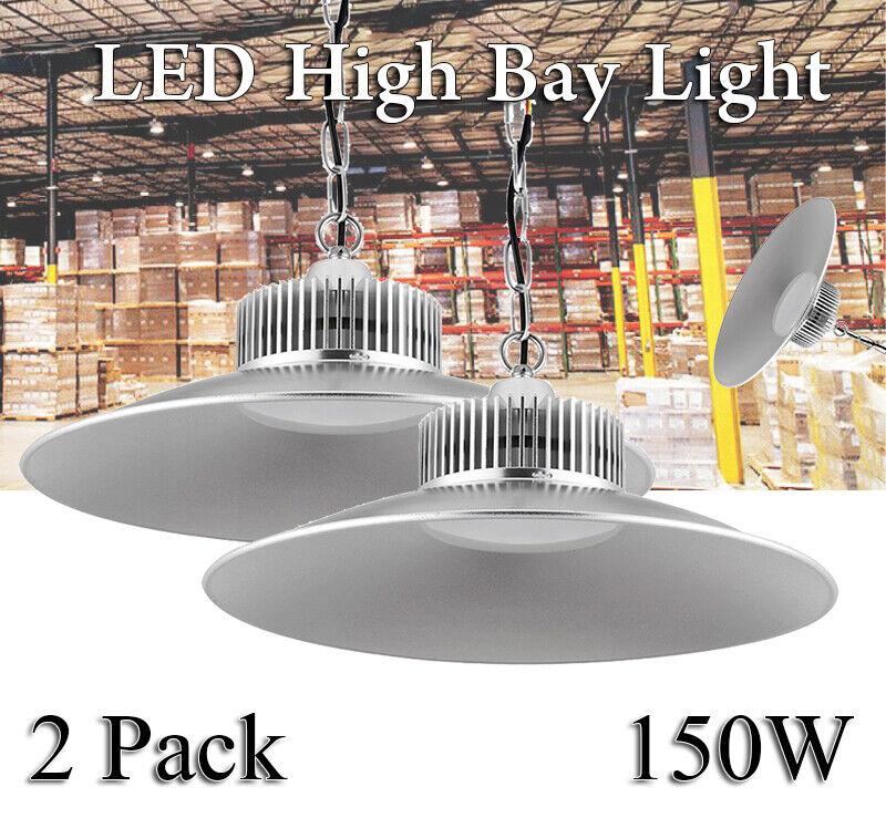 2x 150w ledlicht sótano lámpara industria comercialmente luz blancoo fria lámpara de trabajo