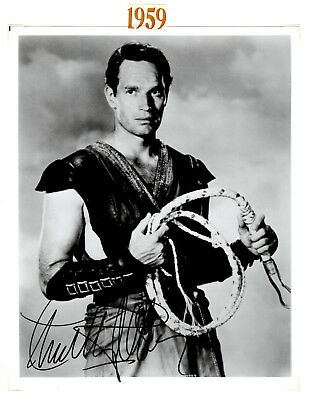 Charlton Heston Signed Autographed Photo Picture from Ib Melchior Estate