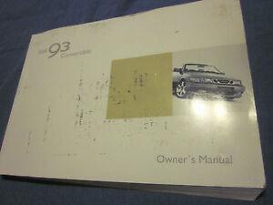 2003 saab 93 nine three convertible owners manual owner s ebay rh ebay com 2003 saab 9-3 convertible owners manual 2004 Saab 9-3 Convertible