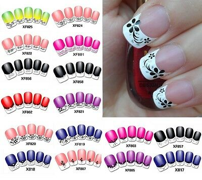 New Fashion French Manicure 3D Nail Art DIY Stickers Tips Decal Nail Decoration