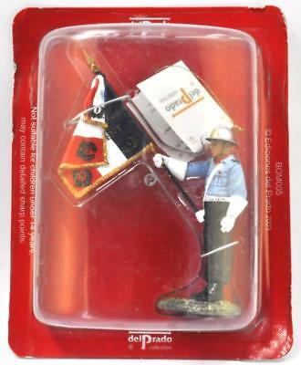"SOLDATINO POMPIERI FIREMAN /""French Flag bearer lieutenant 2001/"" DEL PRADO BOM005"