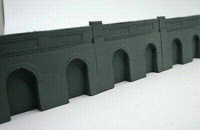 Audace 5 X Detailed Model Railway Retaining Wall With Aches For Ho / Oo New Length 1m07