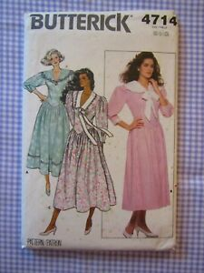 Butterick-Sewing-Pattern-4714-Vintage-Drop-Waist-Full-Skirt-Dress-UNCUT-6-8-10