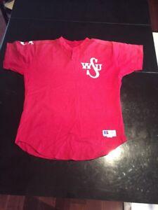Game-Worn-Used-Washington-State-Cougars-Baseball-Jersey-15-Size-46