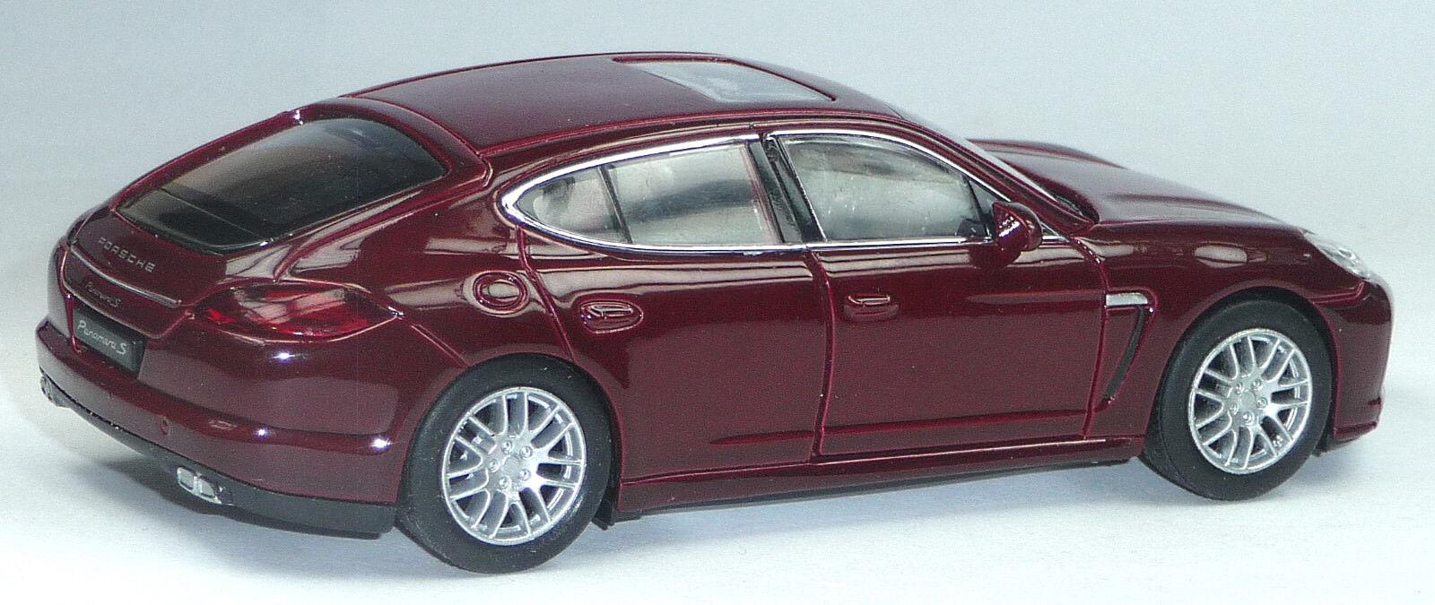 NEU  Modellauto Porsche Panamera S S S ca.12 cm bordeaux red Neuware von WELLY c92cc2