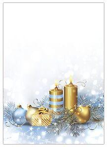Motivpapier Weihnachten.Details Zu 25 Blatt Briefpapier 5051 A4 Format Motivpapier Weihnachten Goldene Kerzen