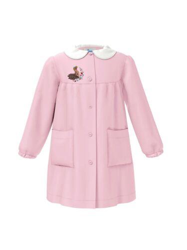 Grembiule scuola bambina Siggi Happy School 33GR3286 Rosa Nero Bluette Bianco