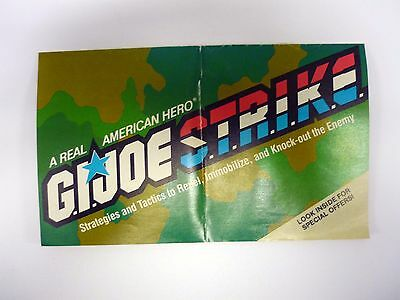 GI JOE REAL AMERICAN HERO STRIKE CATALOG Vintage Brochure Booklet COMPLETE 1986