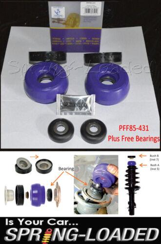Powerflex Front Strut Top Mounts-10mm Free B//Rs for Seat Leon Mk1 1.9TDi 99-05