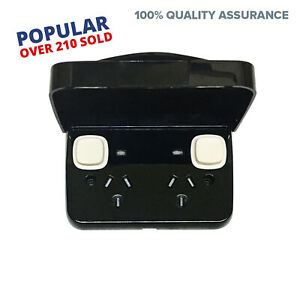 Weatherproof-GPO-Power-Point-DOUBLE-POLE-BLACK-Double-LID-NEON-IP65-EXTRA-SAFE