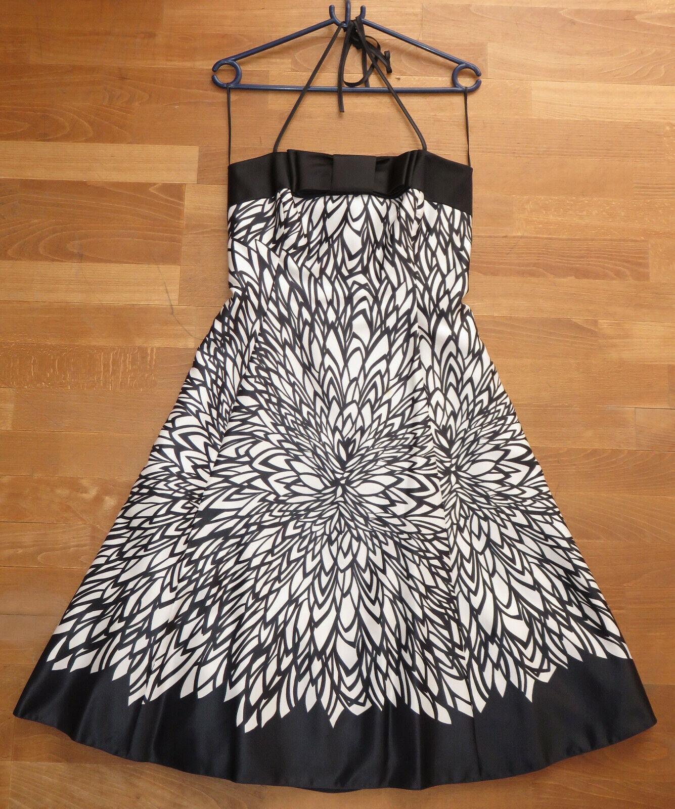 7373a7dc5c058a Abend-Kleid Gr. 36 - knielang - einmal getragen - wie neu nur schwarz-weiß  nsakaa2402-neue Kleidung