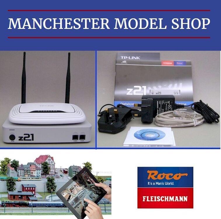 DCC Control Roco Fleischmann z21 Digital Central, WLAN WLAN WLAN Router Smartphone Tablet 490214