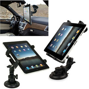 Universal-In-Car-Suction-Mount-360-Holder-iPad-amp-Samsung-Galaxy-Tablet-7-To-11-034