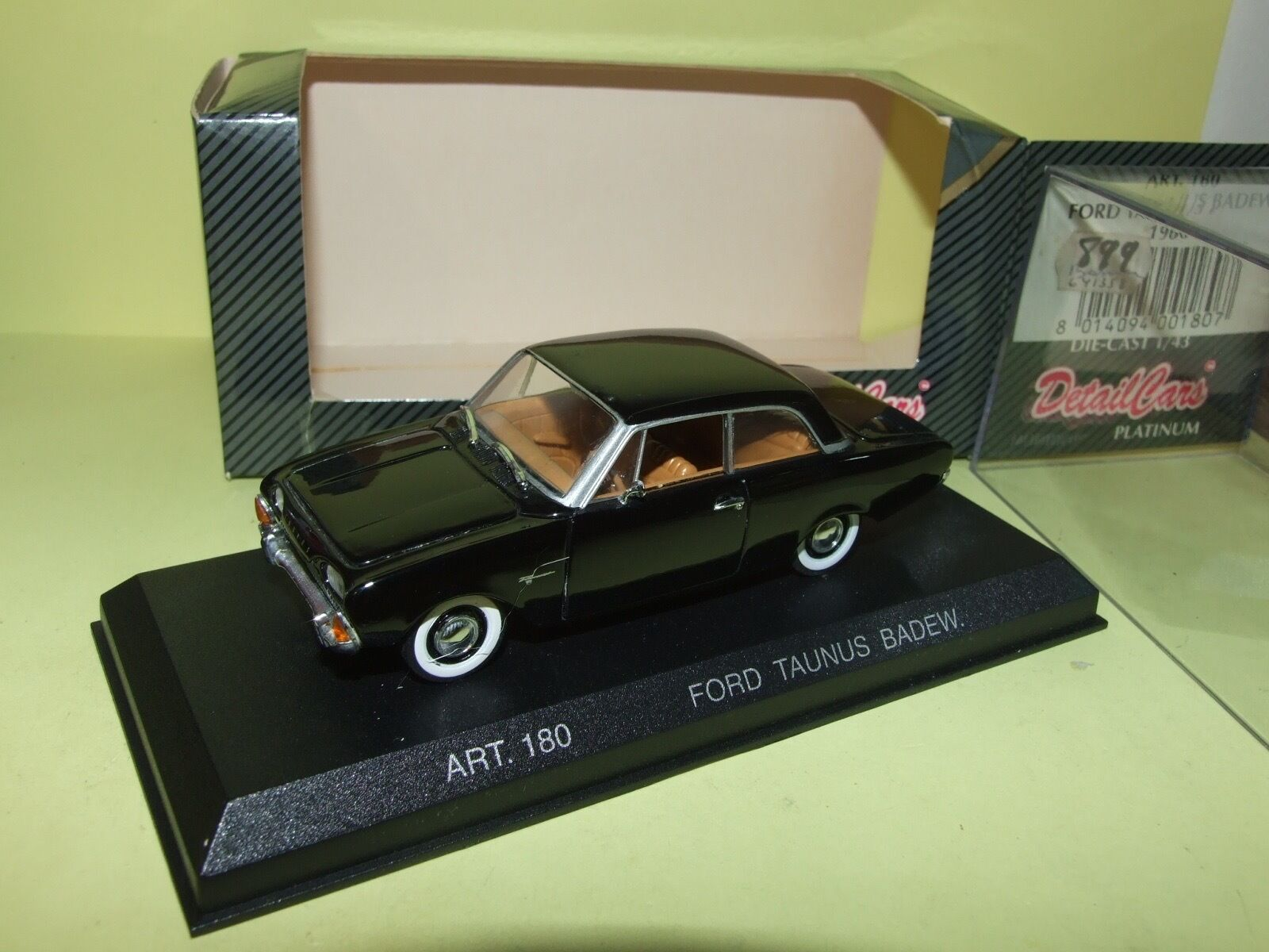 FORD TAUNIS BADEW 1960 black DETAILCARS 180 1 43