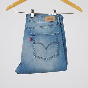 Levi-039-s-Mid-Rise-Skinny-Blau-Damen-Jeans-32-32