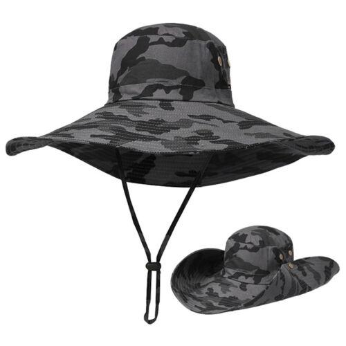Männer Sommer Draussen Sonnenschutz-Hut Fischer Kappe Hut Mit Breiter Krempe