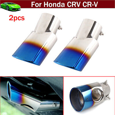 2Pcs Blue Tailpipe Exhaust Muffler Tail Pipe for Honda CRV CR-V 2017 2018 2019