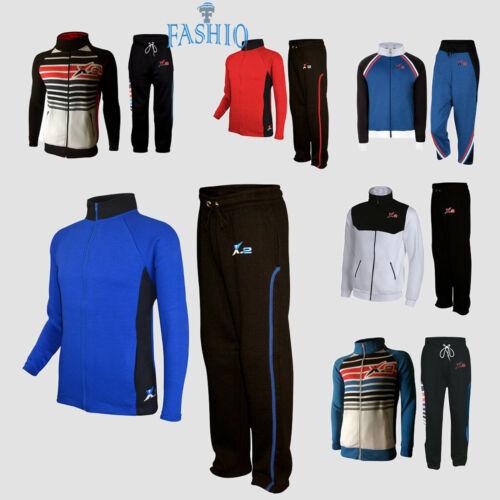 Men/'s Athletic Full Zip Fleece Gym Tracksuit Activewear Sweatsuit