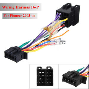 Stereo-Radio-ISO-Wiring-Harness-Connector-Adaptor-16-Pin-PI100-For-Pioneer-03-on