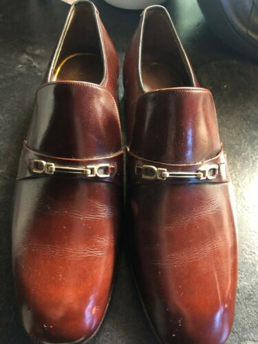 Leather Shoes Taille Brown Retro 8 Mens yN0Ovm8nw