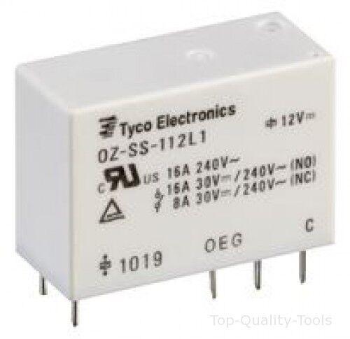 12VDC PCB SPDT 16 A parte # te CONNECTIVITY//OEG OZ-SS-112DM1F,000 RELÉ
