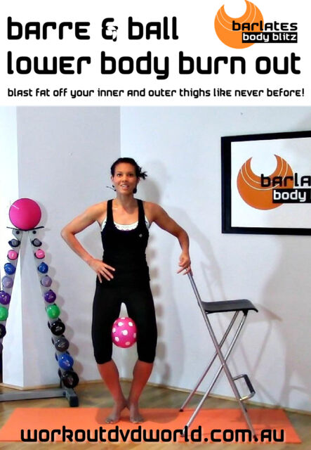 Barre Toning EXERCISE DVD - Barlates Body Blitz BARRE & BALL LOWER BODY BURN OUT